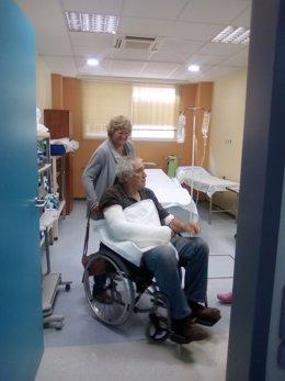 La víctima de la agresión tras la atención médica