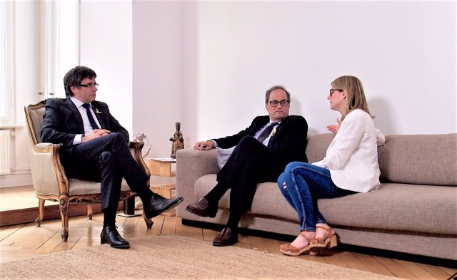 Carles Puigdemont, Quim Torra, Elsa Artadi, JxCat