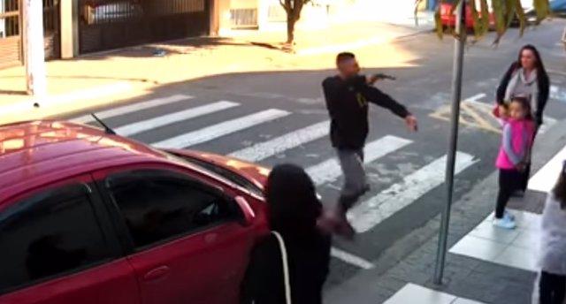 Ladrón abatido en Sao Paulo
