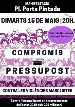 Cartel manifestación moviment feminista
