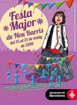 Cartel de la fiesta mayor de Nou Barris 2018