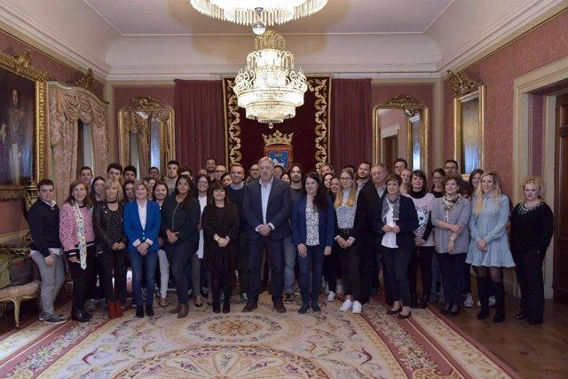 Recepción a estudiantes de la Escuela de Negocios de Navarra Foro Europeo