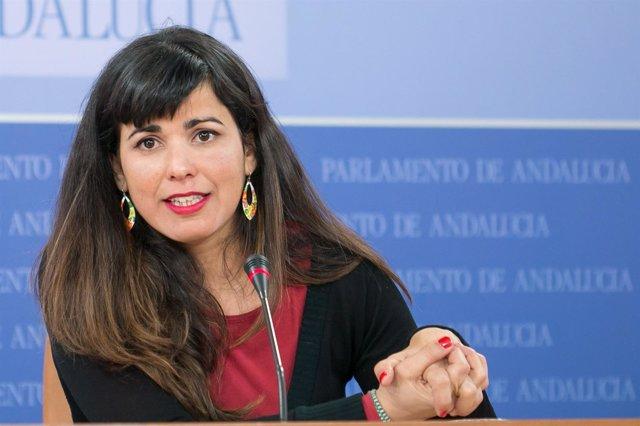 Teresa Rodríguez, este jueves en rueda de prensa
