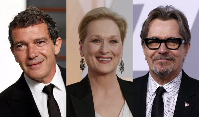 Antonio Banderas, Meryl Streep y Gary Oldman