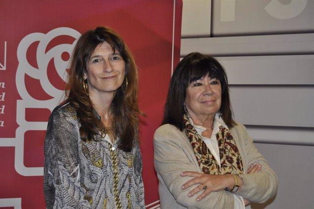 Cristina Narbona y Carmen Dueso (PSOE).