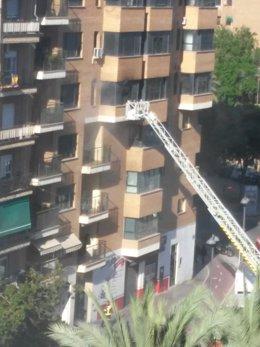 Incendio en una vivienda en Doctor Waksman