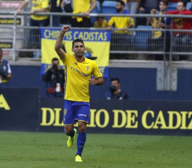David Barral celebra el 1-0