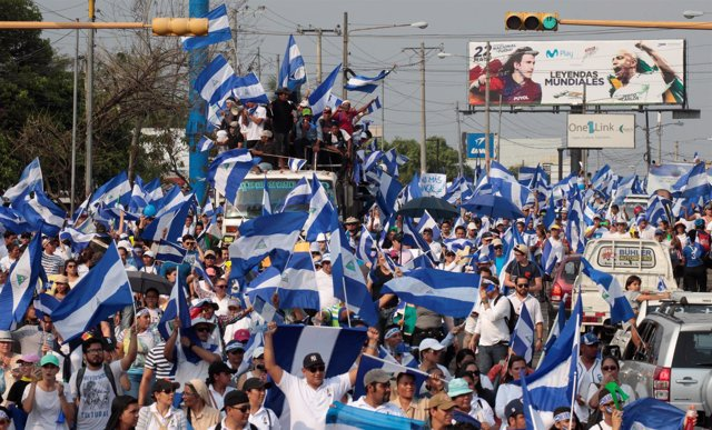 Manifestaciones en Nicaragua contra el Gobierno de Daniel Ortega