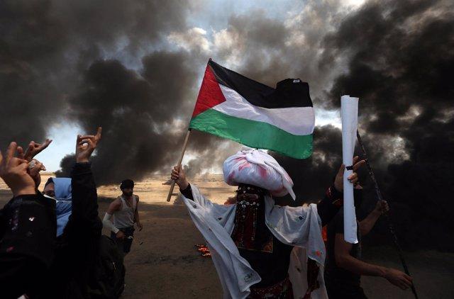 Manifestaciones en la Franja de Gaza