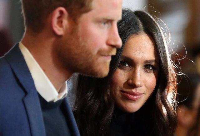 El príncipe Harry y su prometida, Meghan Markle