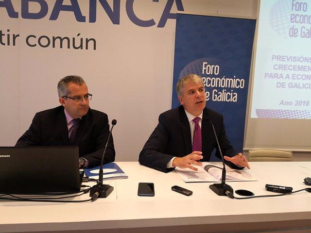 Presentación de un informe del Foro Económico de Galicia
