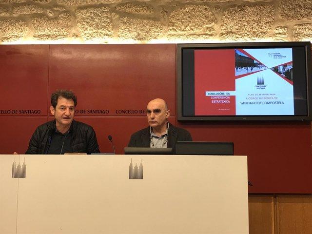 Jorge Duarte analiza la conferencia sobre la ciudad histórica de Santiago