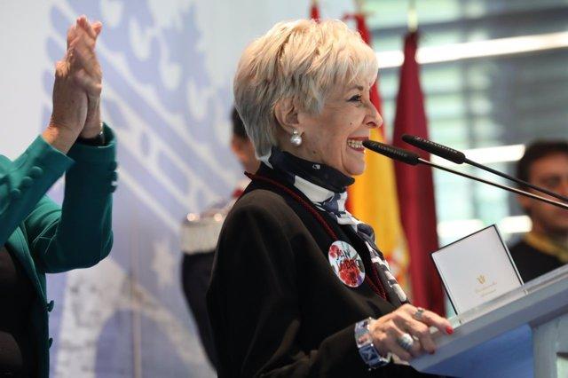 Concha Velasco en la entrega de las Medallas de Oro de la ciudad de Madrid
