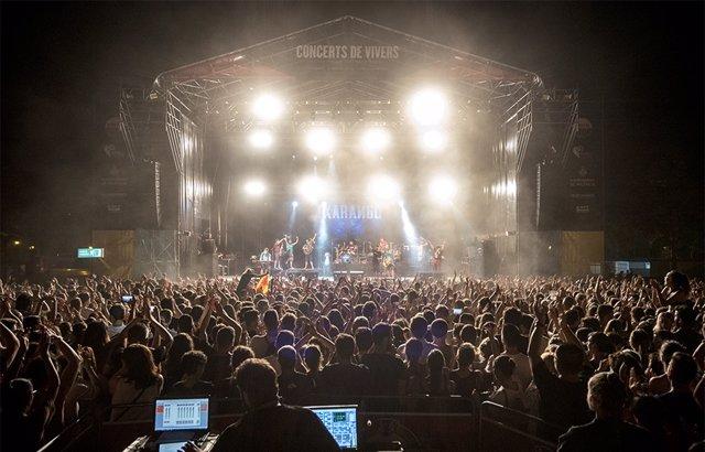 Imagen de un concierto de Viveros en la Gran Fira de Juliol de València