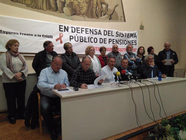 Convocantes de la manifestación en defensa de las pensiones