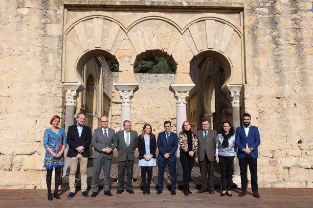 Los delegados de la Junta en Medina Azahara en un acto de apoyo a su candidatura