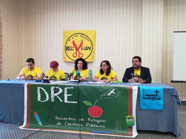 Asociación de Docentes de Religión en la rueda de prensa de este martes