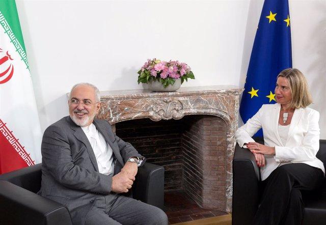 Mohamad Javad Zarif y Federica Mogherini