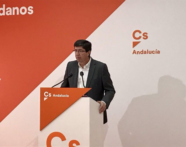 Juan Marín,presidente y portavoz de Ciudadanos en el Parlamento andaluz.