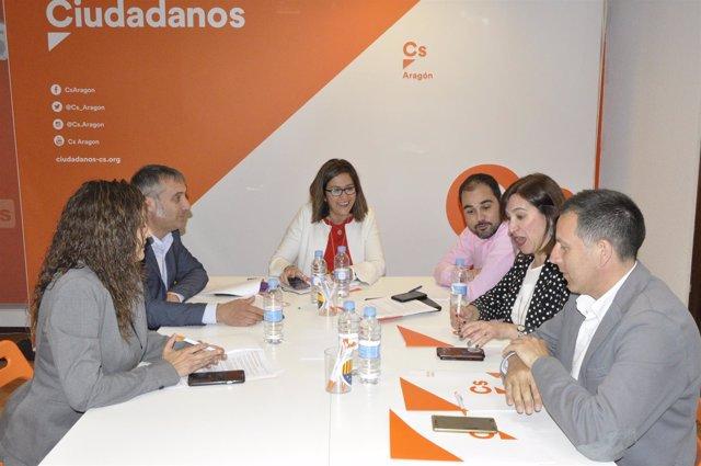 Reunión orgánica de Cs Aragón.