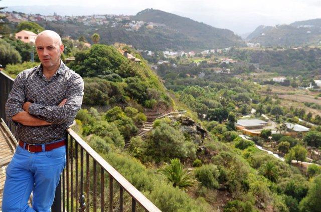 El director del Jardín Canario, Juli Caujapé