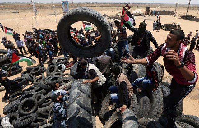 Protestas palestinas por el 70º aniversario de la 'Nakba'