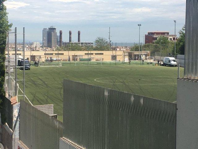 Campo de fútbol Satalia de Barcelona