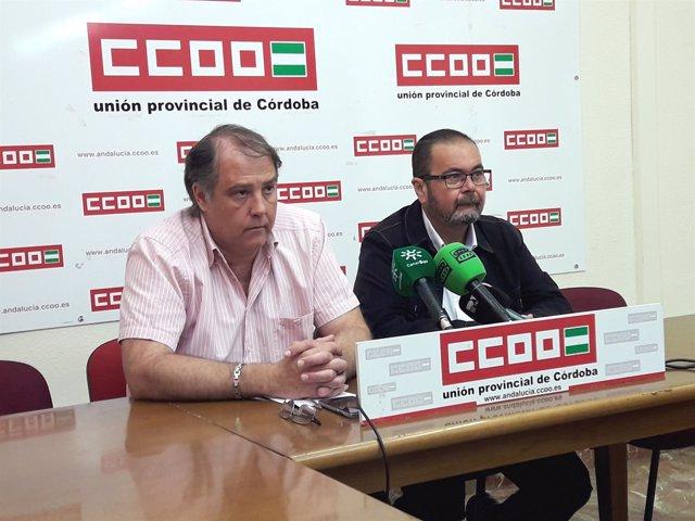 Morales y Moreno en la rueda de prensa