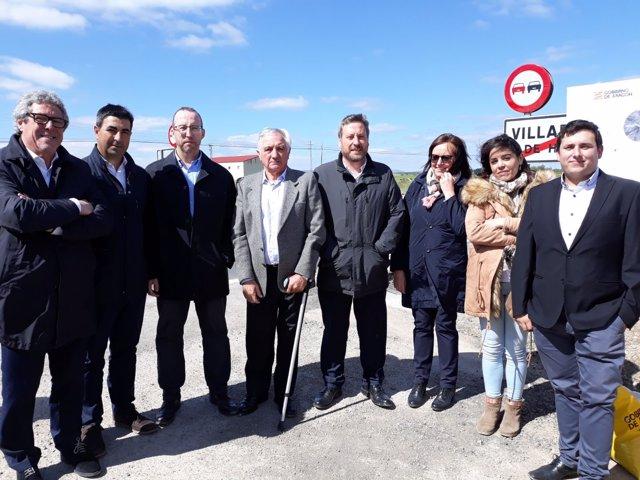 Soro ha visitado hoy Villarreal de Huerva (Zaragoza)