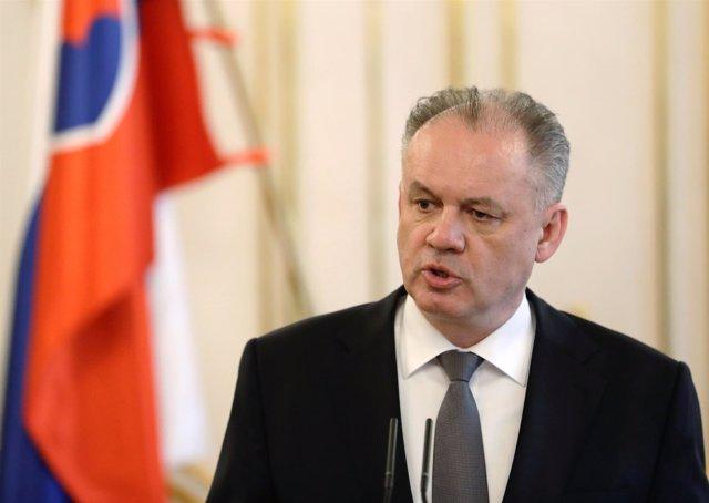 El presidente eslovaco, Andrej Kiska