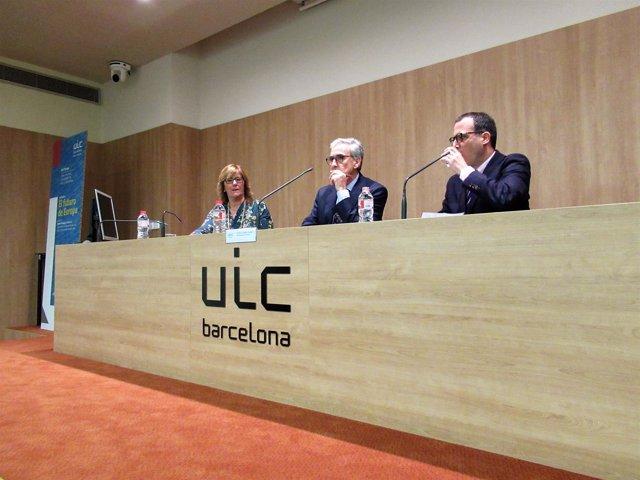 Pilar Fernández (UIC), Ramón Jáuregui (PSOE) Carlos Espaliú (Icee)