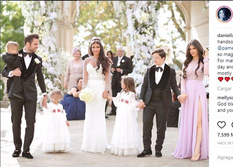 FOTO INSTAGRAM de Cesc Fabregas se casado con Daniella Semaan