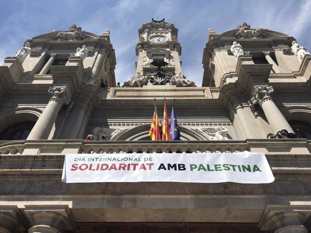 Cartel de solidaridad con Palestina