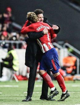 Simeone y Griezmann (Atlético de Madrid)