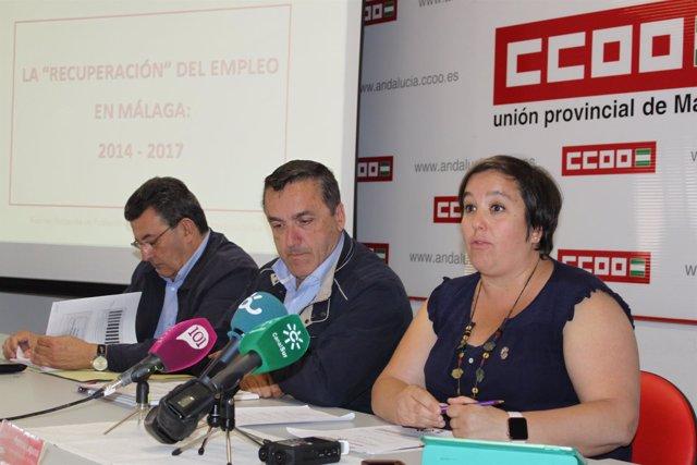 Turmo, Muñoz Cubillo y Lafuna informe empleo de CCOO