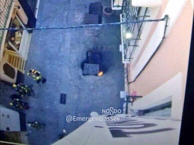 Imagen de la calle Cuna tras el incidente