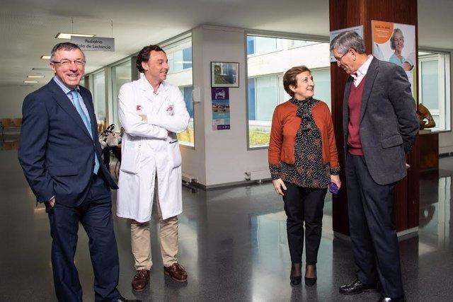 La consejera de Sanidad, María Luisa Real, visita las obras ejecutadas en el Cen