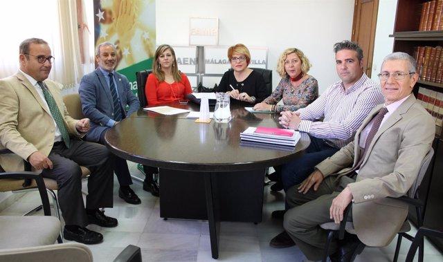 Reunión de la FAMP y la Consejería de Justicia e Interior.