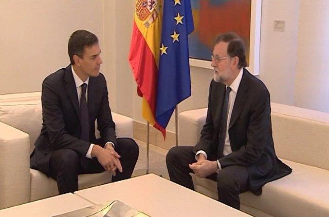 Reunió entre Sánchez i Rajoy després de la investidura de Torra