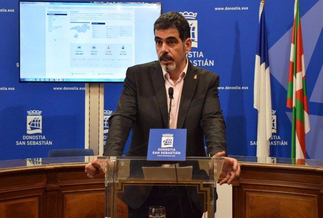 Eneko Goia, el alcalde de San Sebastián