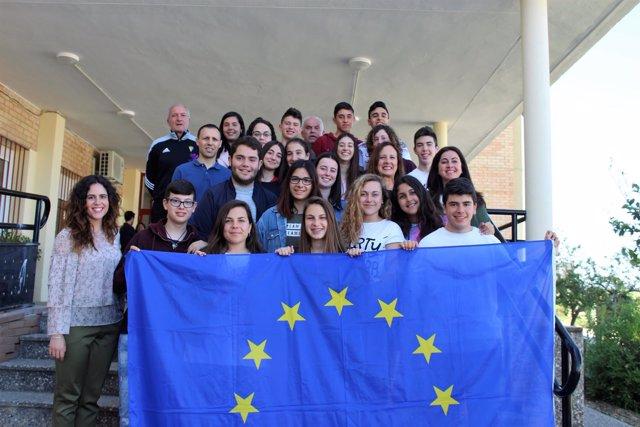 Alumnos del IES Zaframagón de Olvera