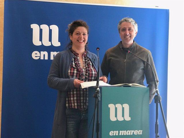 Ana Seijas y Gonzalo Rodríguez, miembros de la Coordinadora de En Marea
