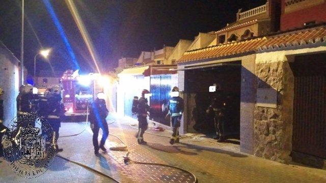 Incendio en calle Bermúdez de Pedraza