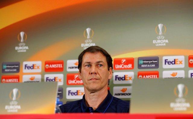 El entrenador del Olympique de Marsella, Rudi García