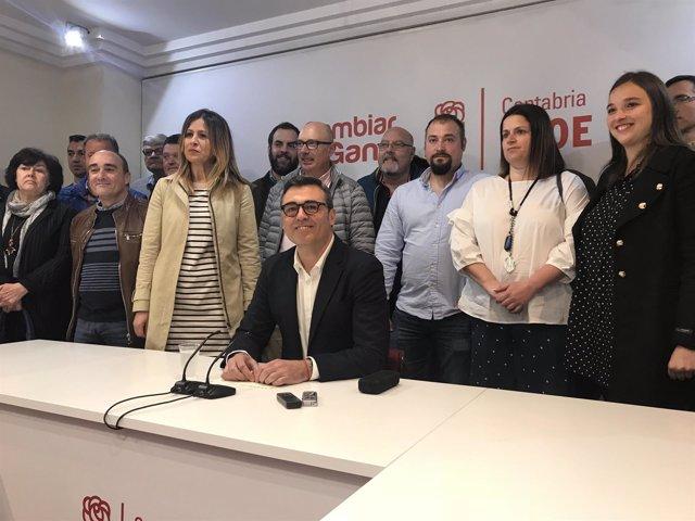 Ricardo Cortés en la presentación de su candidatura