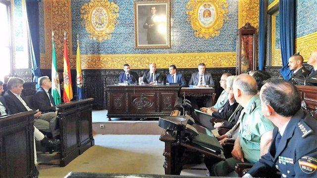 Sasnz en la junta local de seguridad de Algeciras