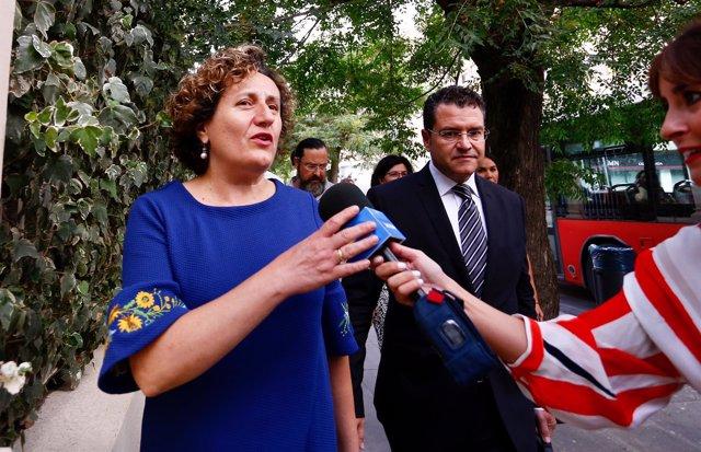 Francisca Granados, al llegar a los juzgados de Granada