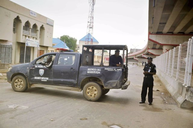 Policía en Kano, Nigeria