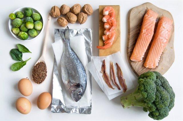 Omega 3, pescado, coles