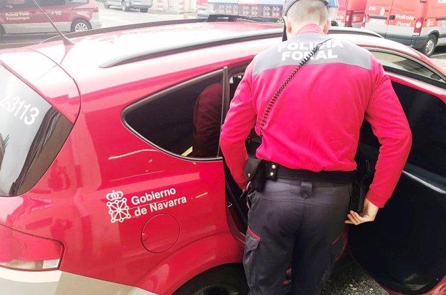 Llegada de los detenidos a los calabozos de Pamplona.